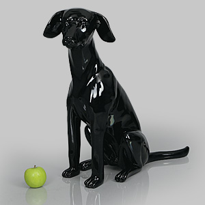 Dog Mannequin Arthur - Gloss Black