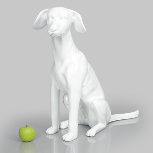 Dog Mannequin Arthur - Gloss White