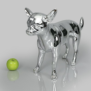 Dog Mannequin Beatrice - Chrome