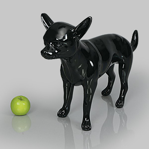 Dog Mannequin Beatrice - Gloss Black