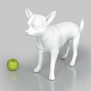 Dog Mannequin Beatrice - Gloss White