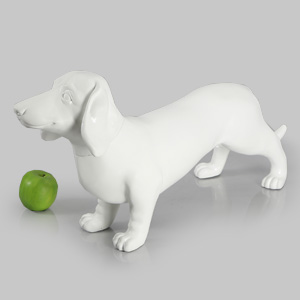 Dog Mannequin Bertha - Anti-Scratch White