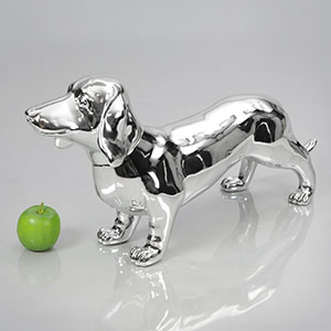 Dog Mannequin Bertha - Chrome