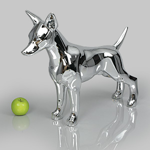 Dog Mannequin Charles - Chrome