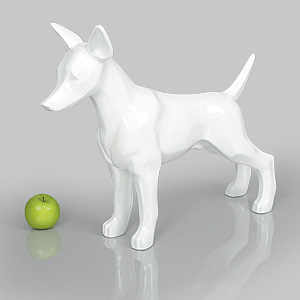 Dog Mannequin Charles - Gloss White