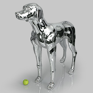Dog Mannequin Edward - Chrome