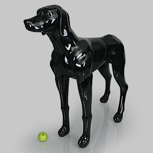 Dog Mannequin Edward - Gloss Black
