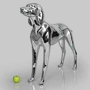 Dog Mannequin Henry - Chrome