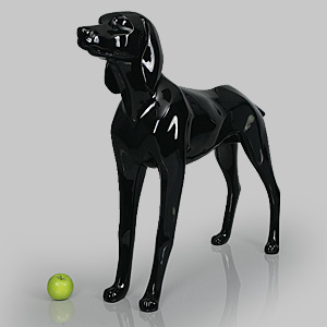 Dog Mannequin Henry - Gloss Black