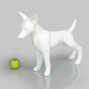 Dog Mannequin Matilda - Anti-Scratch White