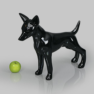 Dog Mannequin Matilda - Gloss Black