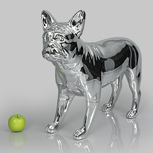 Dog Mannequin Patricia - Chrome
