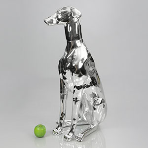 Dog Mannequin Philippa - Chrome