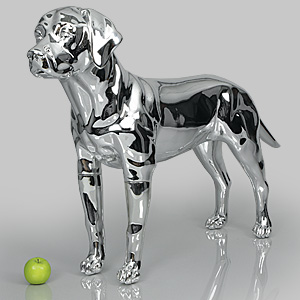 Dog Mannequin Victoria - Chrome