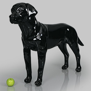 Dog Mannequin Victoria - Gloss Black